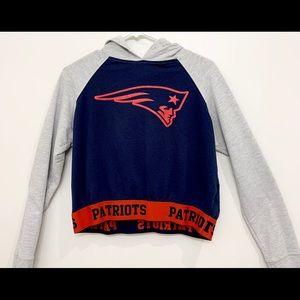 Patriots Sweater Crop Top Size (L)